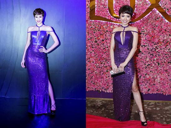 Phương Mai mặc lại váy cũ của Tóc Tiên
