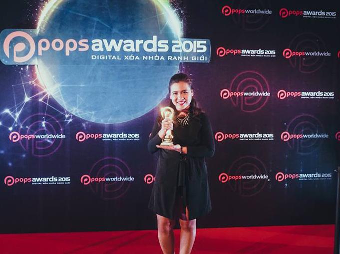 Huỳnh Phúc Thanh Nhân đoạt giải MV Thiếu nhi xuất sắc nhất của Pop Award 2015.