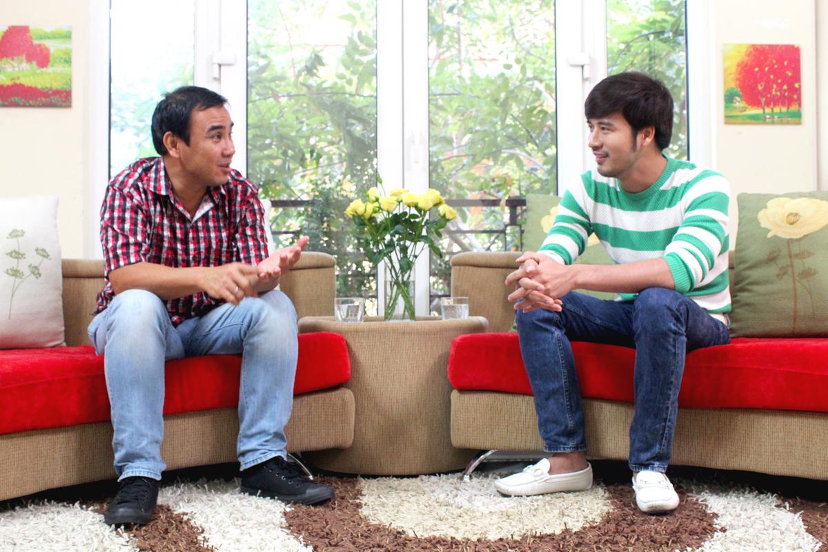 Diễn viên Đoàn Thanh Tài cùng Quyền Linh tham gia talk show
