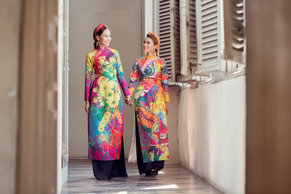 Xuân Nguyễn, Kim Nguyên đón xuân bằng bộ sưu tập áo dài hoa