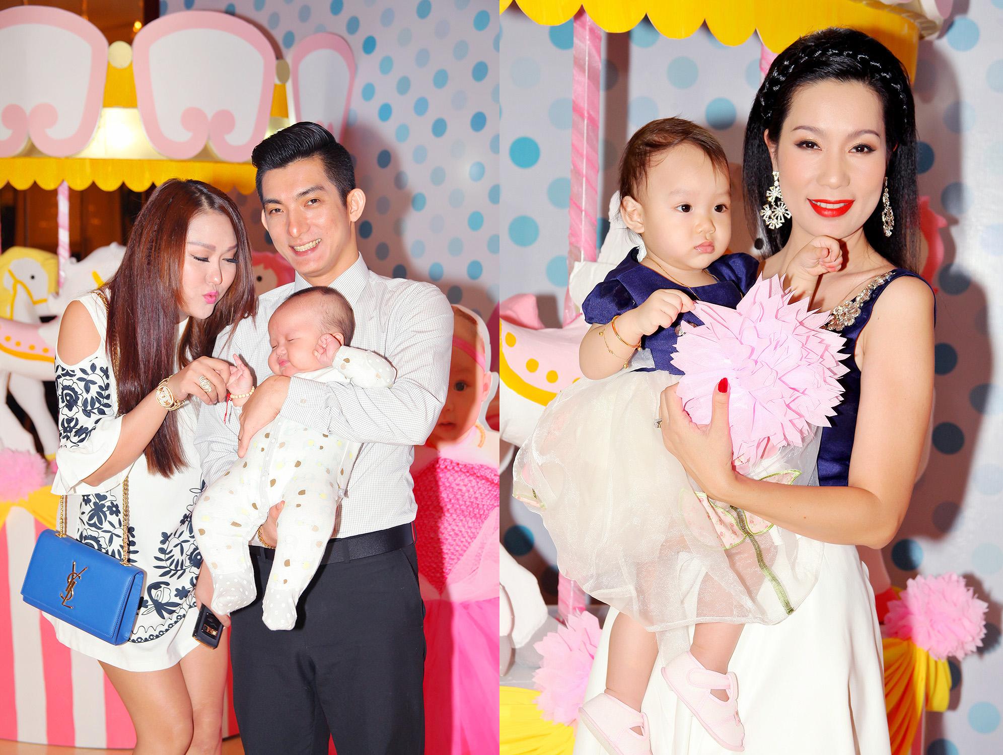 Phi Thanh Vân  đưa con trai đến chúc mừng con gái Trịnh Kim Chi