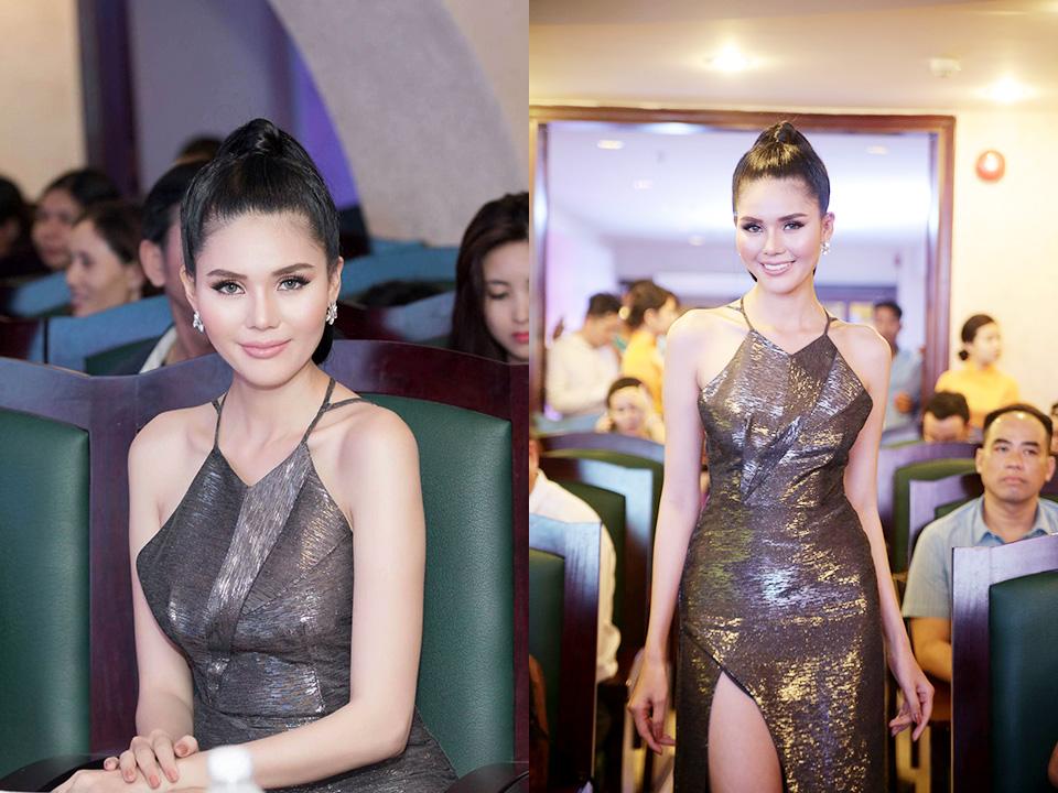 Á hậu Kim Nguyên gợi cảm sexy với đôi vai trần