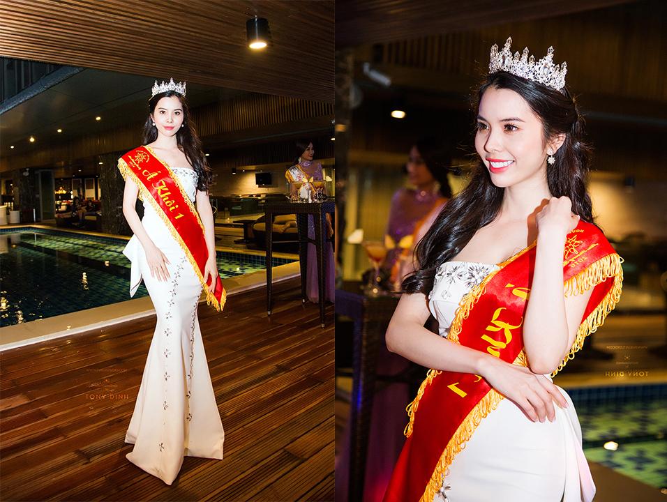 Vẻ đẹp tựa nữ thần của Á khôi Huỳnh Vy
