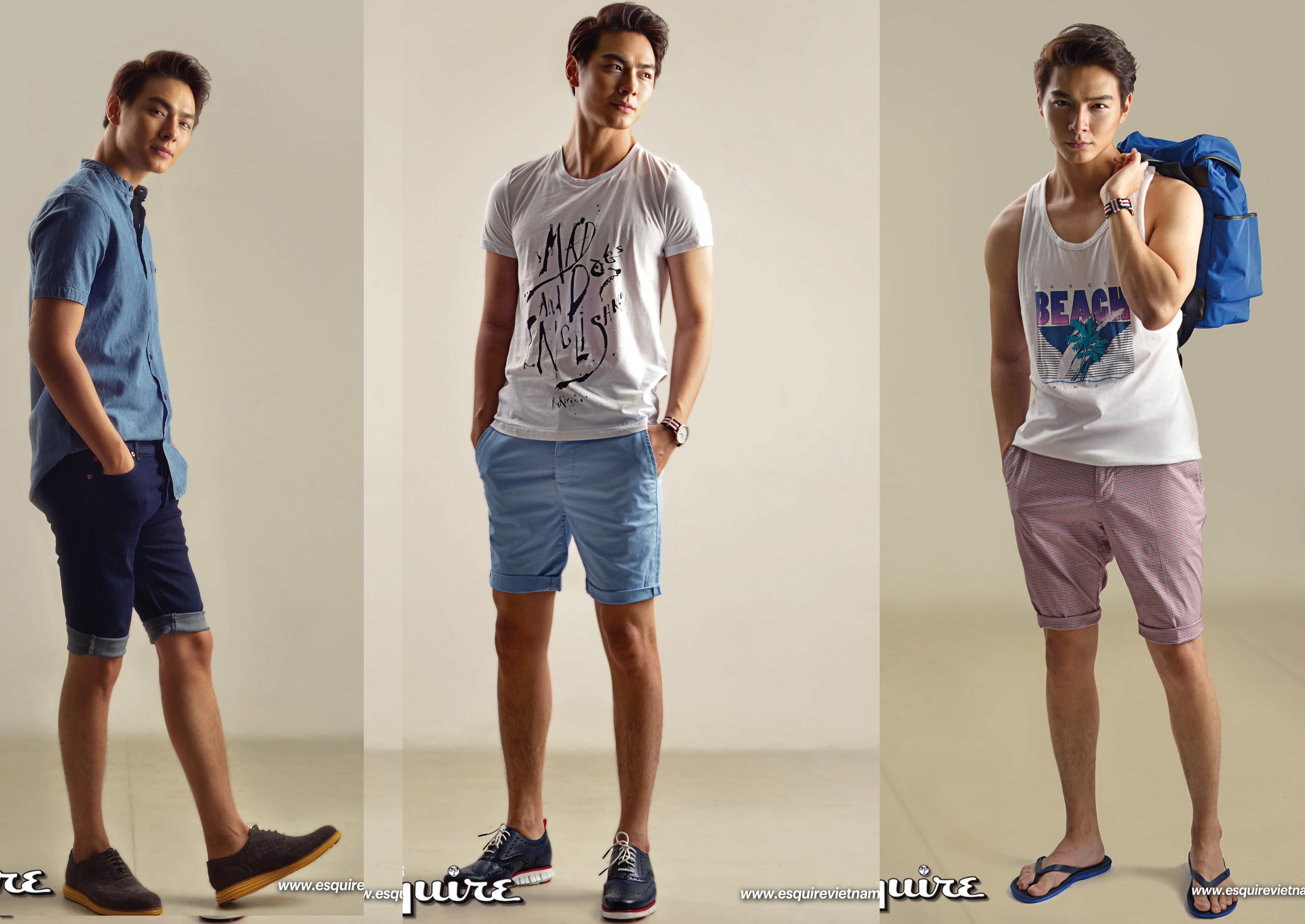 Jay Quân gợi ý 7 cách kết hợp quần short cho các chàng trai thích phong cách