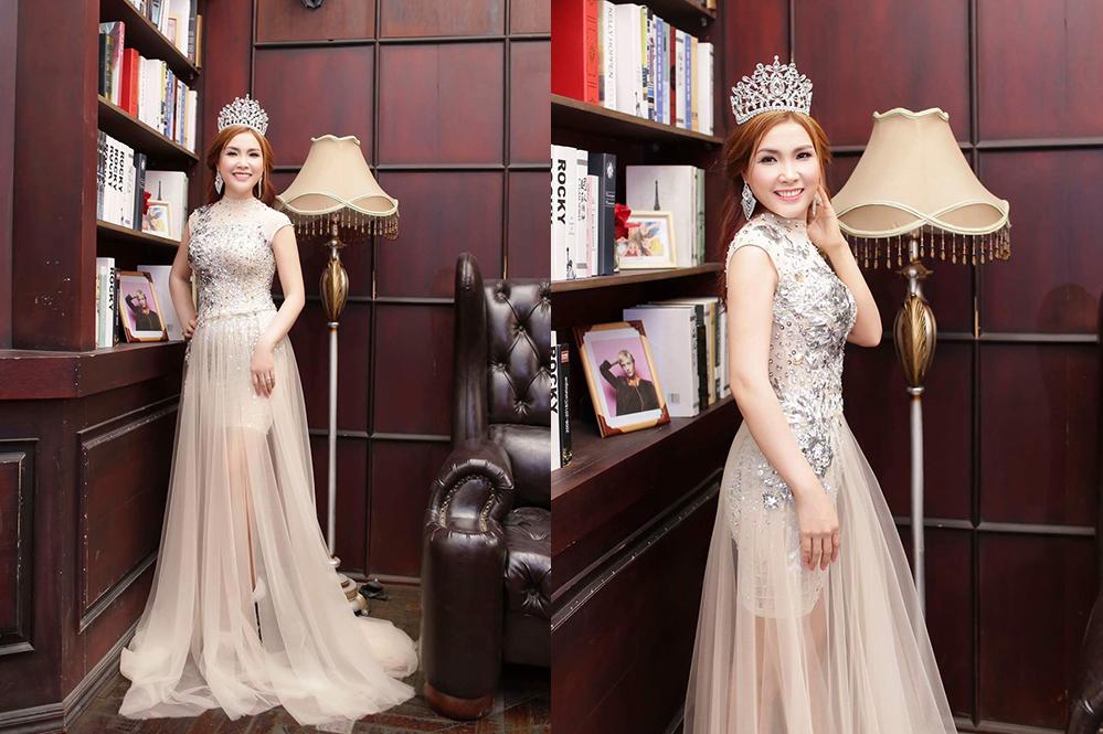 Ngắm thân hình vô cùng quyến rũ của Á khôi Bena với váy dạ hội