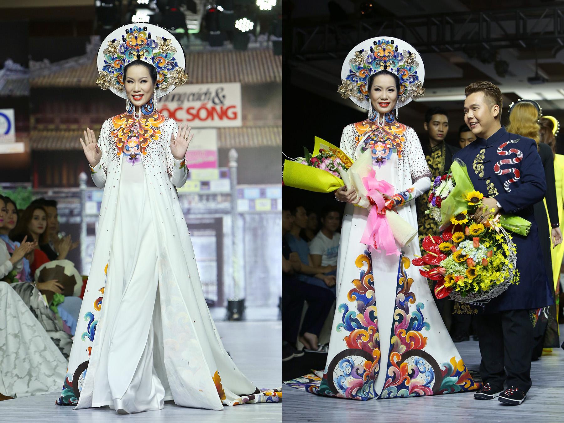 Trịnh Kim Chi đẹp hút hồn trên sàn diễn trong trang phục dài Minh Châu