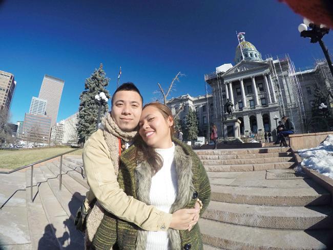 Vợ chồng DJ Wang Trần – Thanh Nhân tham dự sự kiện chào đón năm mới lớn nhất nước Mỹ