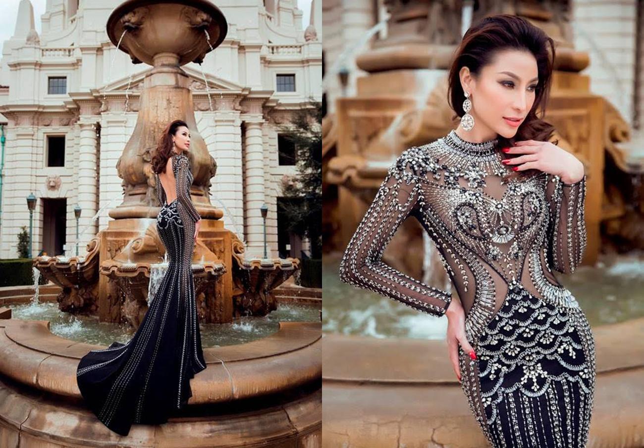 Hoa hậu My Na Lê sang chảnh với bộ thời trang hàng hiệu.