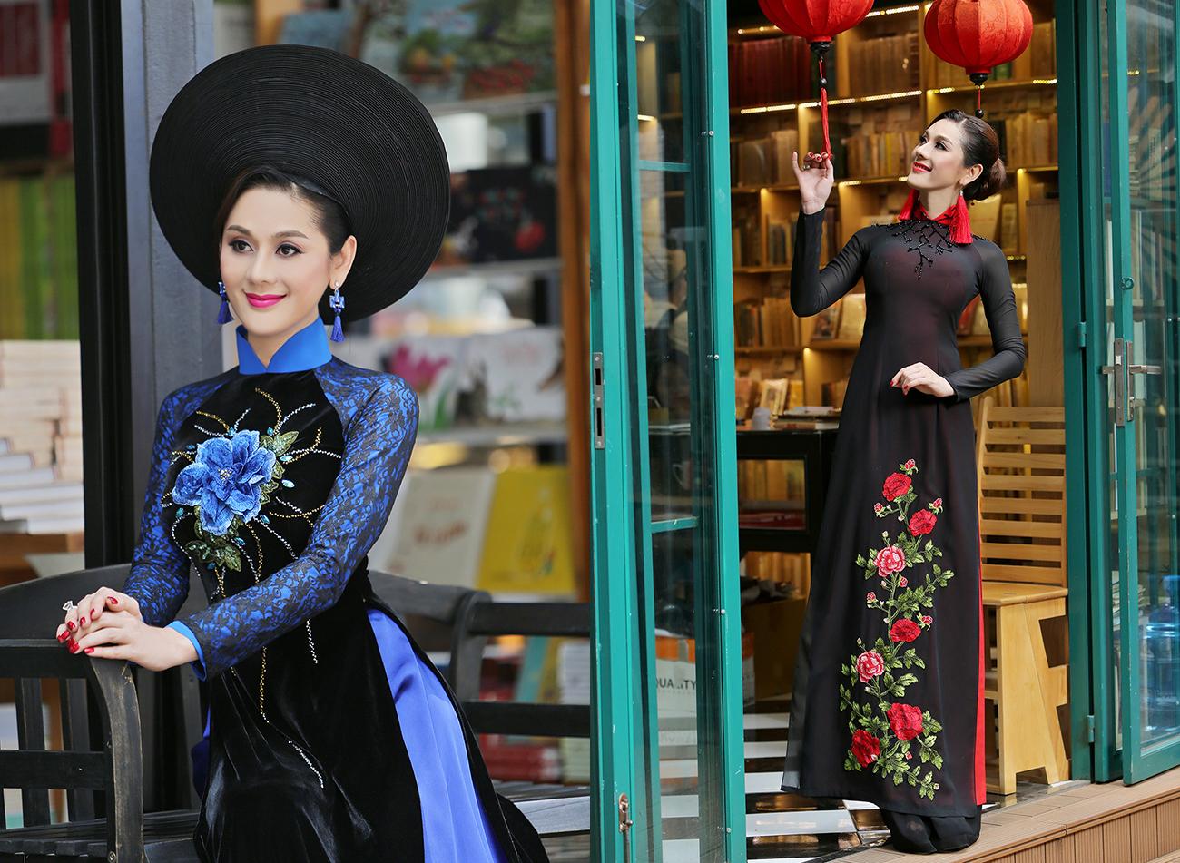Lâm Khánh Chi khoe vòng eo con kiến với áo dài Trọng Nguyễn