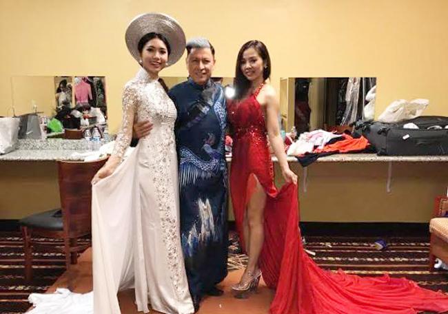 """Phương Tùng xem tổng duyệt """"Hoa hậu Việt Nam Toàn cầu"""""""