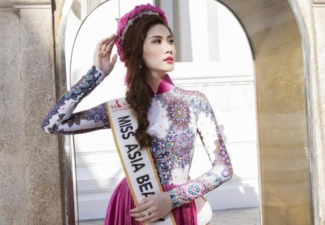 Trước thềm chung kết Miss Asia Beauty 2017, Hoàng Hạnh gây ấn tượng với trang phục truyền thống