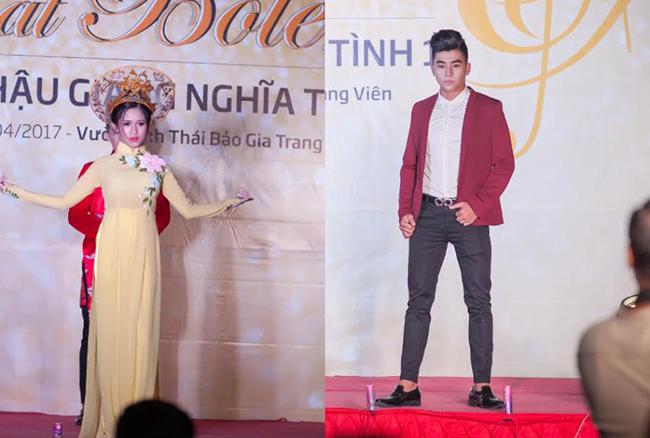 Người đẹp Hà Quyên và Hotboy hát Bolero Đào Minh Cảnh làm mẫu chính của đêm diễn