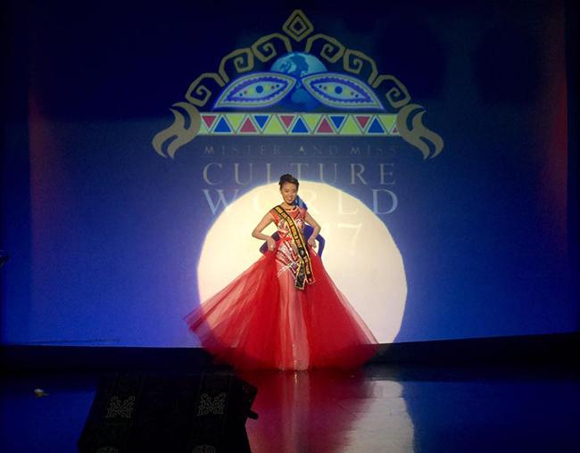 Mặc cho chính trị Philippines bất ổn, Trần Ngọc Trâm vẫn dành giải hoa hậu Văn hóa thế giới,