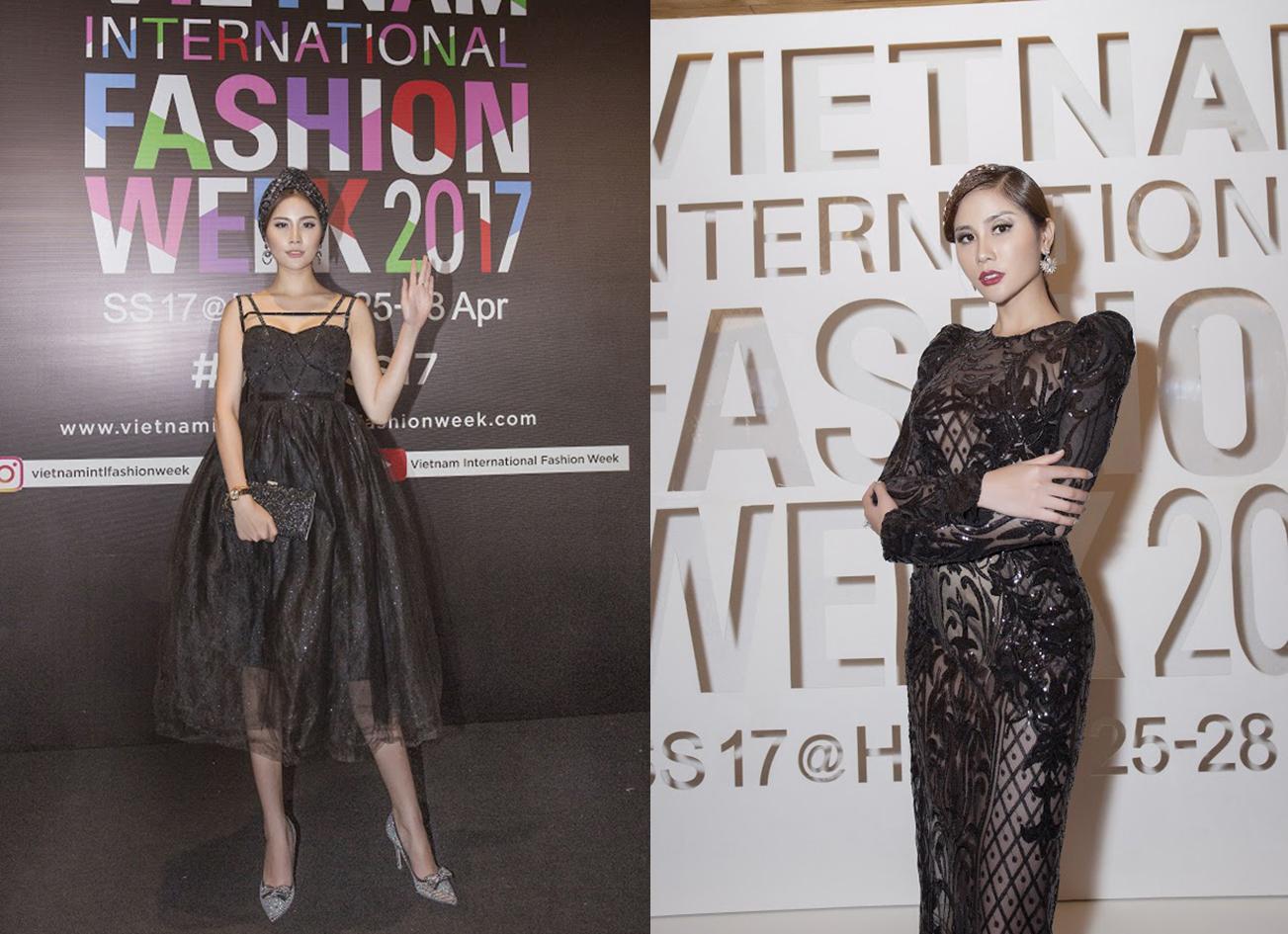 Á hậu Hoàng Hạnh khoe chân dài miên man trong tuần lễ thời trang VIFW SS 2017