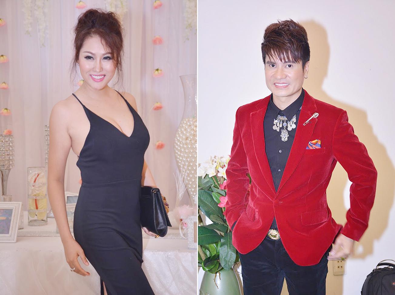 Phi Thanh Vân tươi rói đến mừng Lương Gia Huy cùng lúc ra album đôi