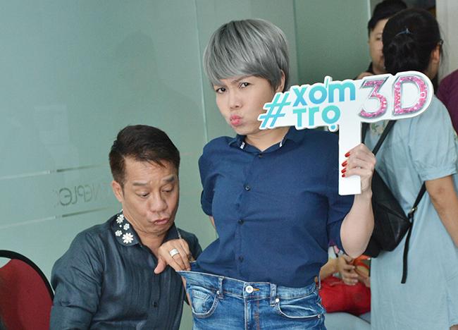Việt Hương giao lưu khán giả Xóm trọ 3D với hình tượng tomboy