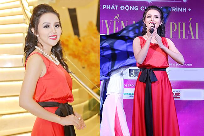 Hoa hậu Amy Lê Anh khoe nét đẹp quyền năng tại sự kiện