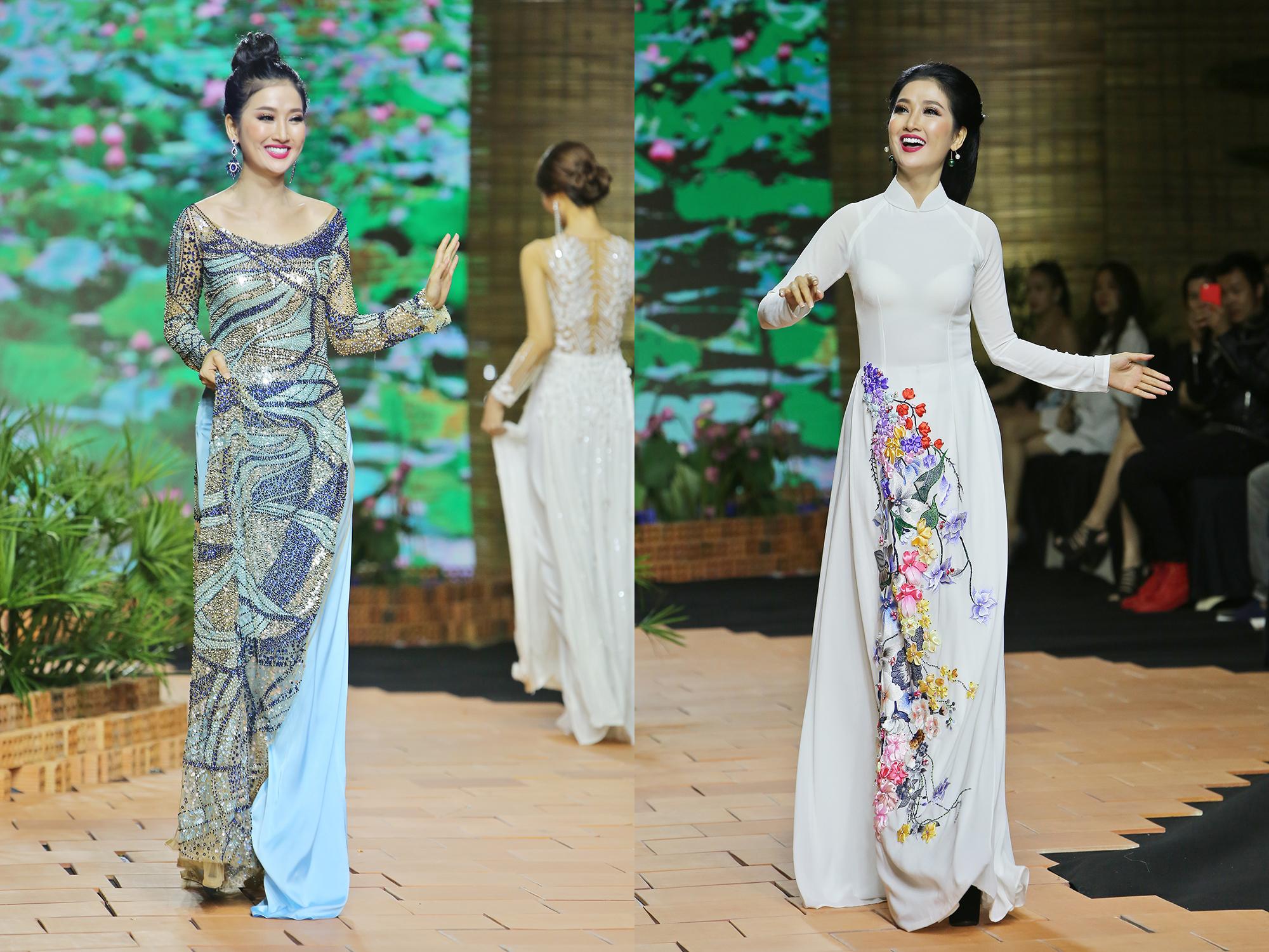 Diễn 2 màn vedette NTK Long Phụng - Quỳnh Lam làm Nữ hoàng trên sàn diễn thời trang