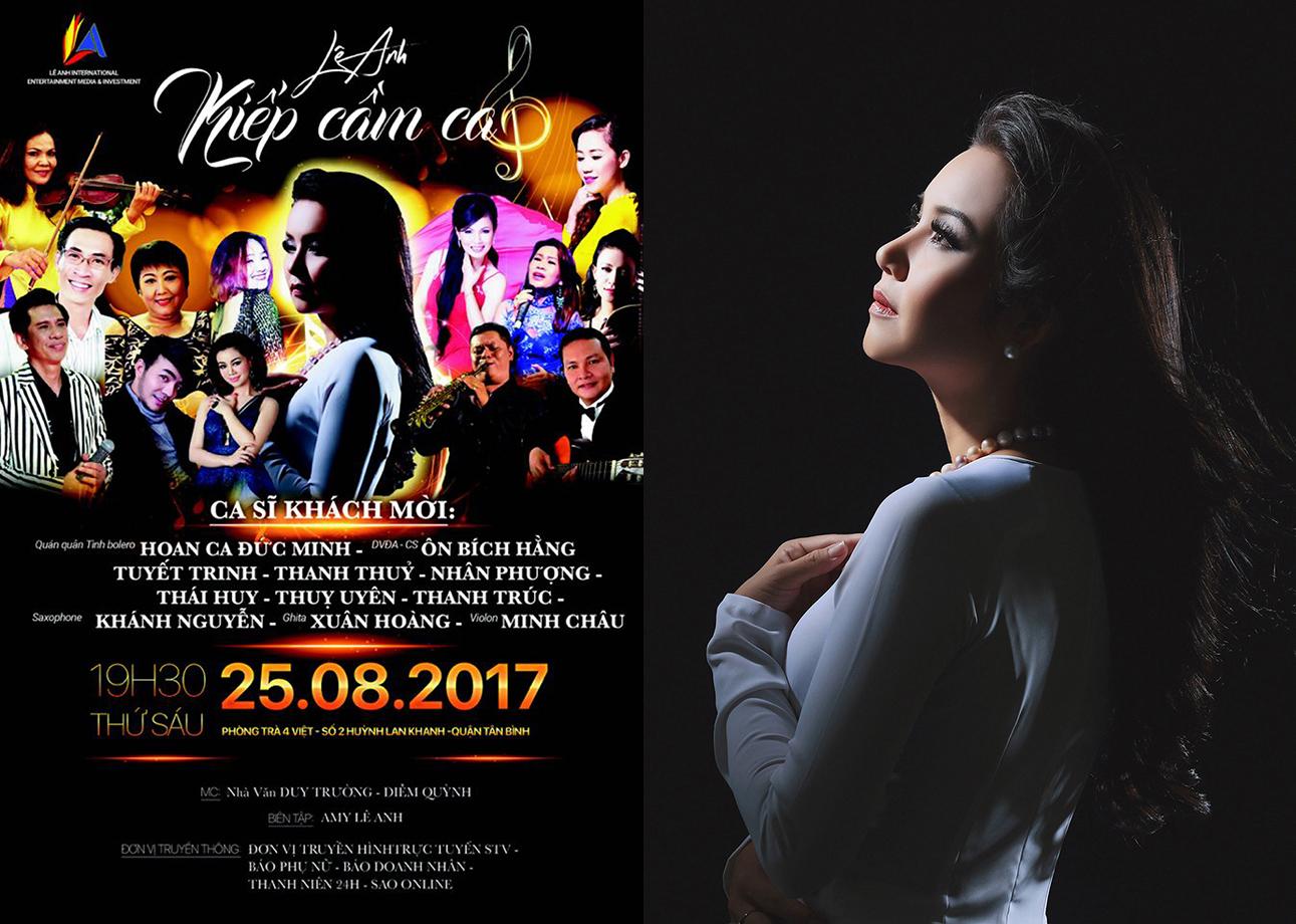 Amy Lê Anh bất ngờ trở lại ánh đèn sân khấu với đêm nhạc giao lưu mini show