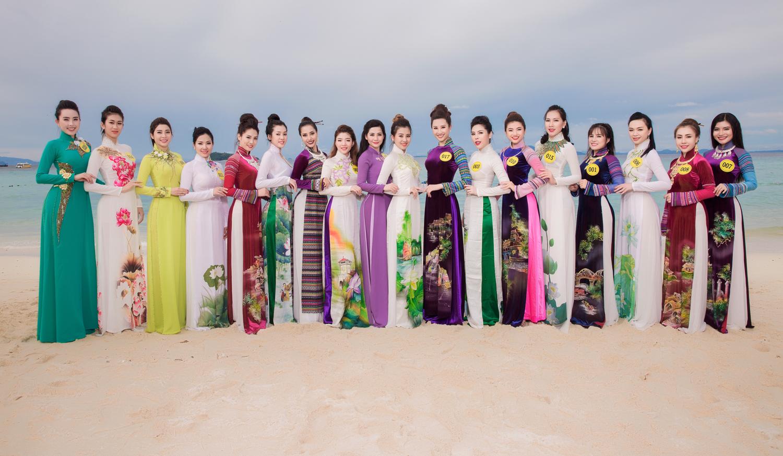 Ngắm thí sinh Hoa hậu Phụ nữ Sắc đẹp 2017 khoe sắc với áo dài tại Thái Lan