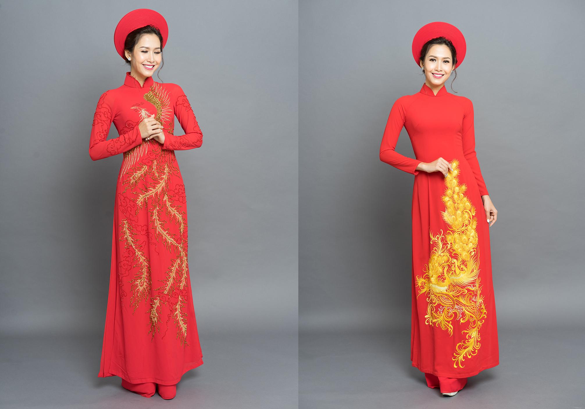 Phan Thu Quyên làm cô dâu duyên dáng với áo dài cưới Long Phụng