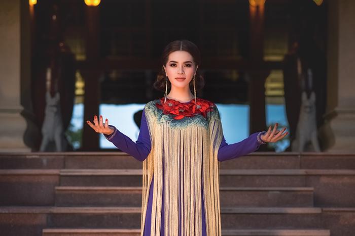 Á hậu Lâm Ngọc Trâm đa phong cách trong áo dài Nhật Dũng