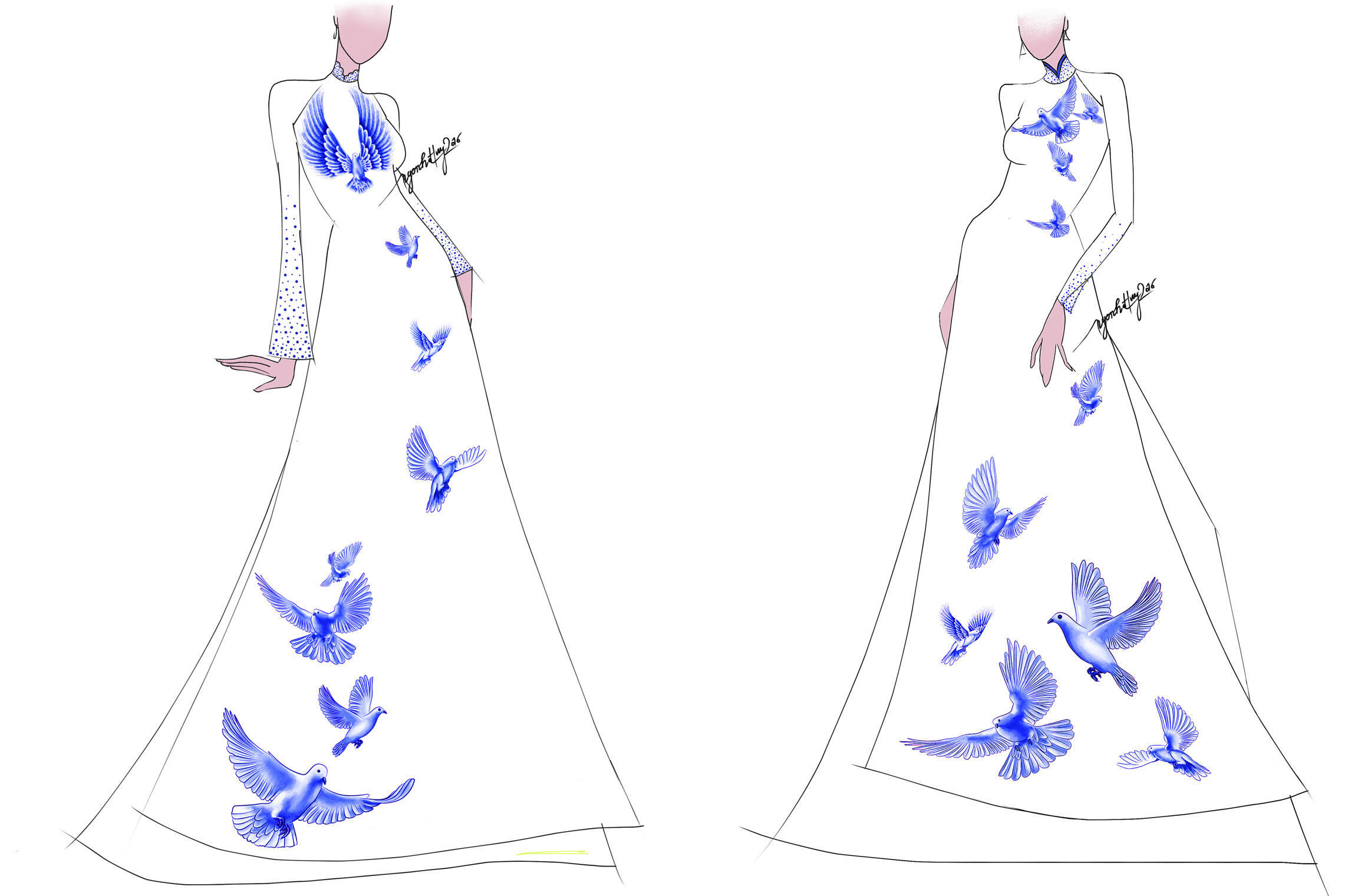 Hé lộ mẫu áo dài dành cho Top 10 Miss Grand  của NTK Ngô Nhật Huy
