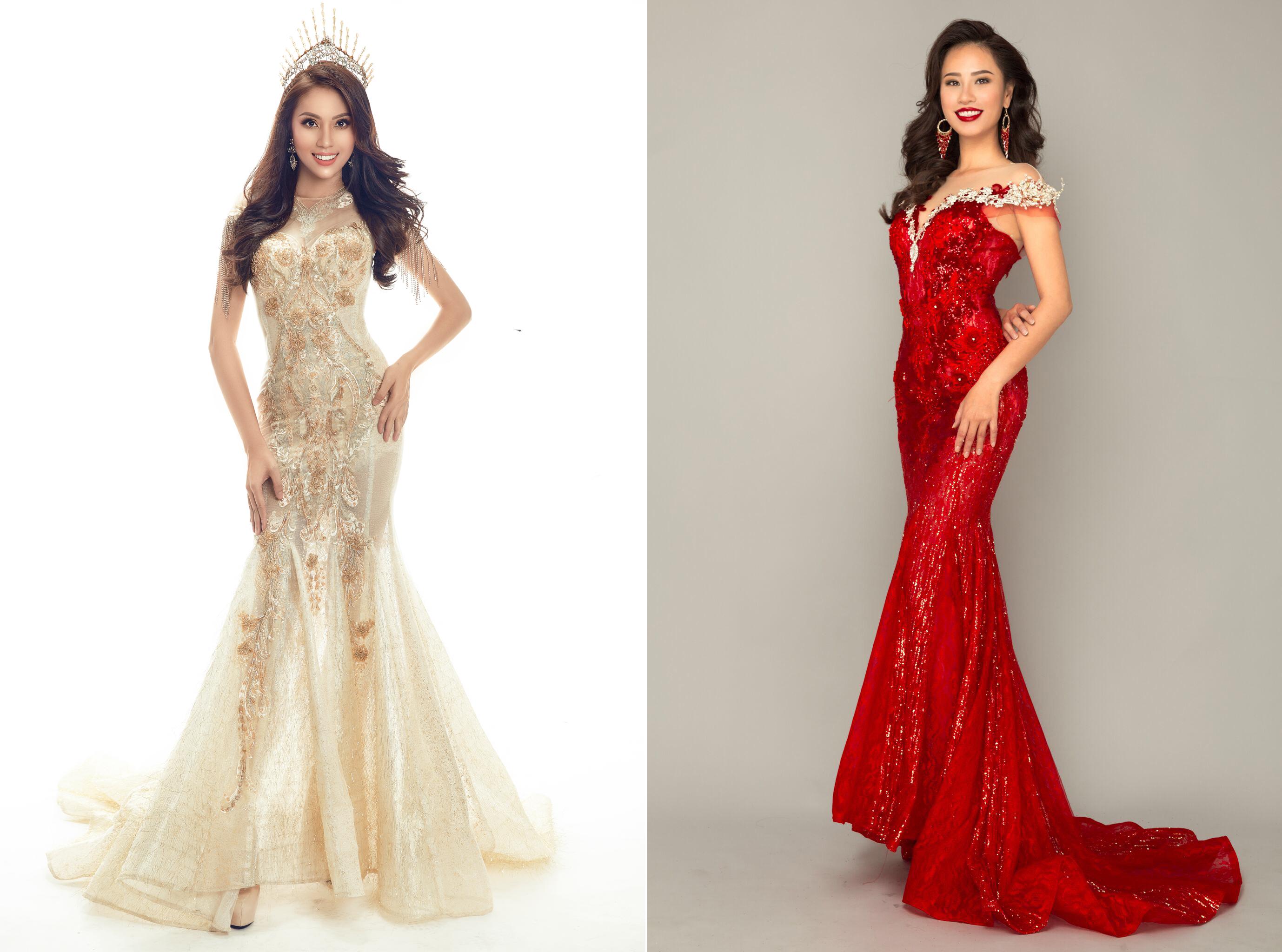 Ứng viên Hoa hậu Hoàn vũ Ngọc Út, Trà My khoe nhan sắc xinh đẹp trước thềm bán kết.