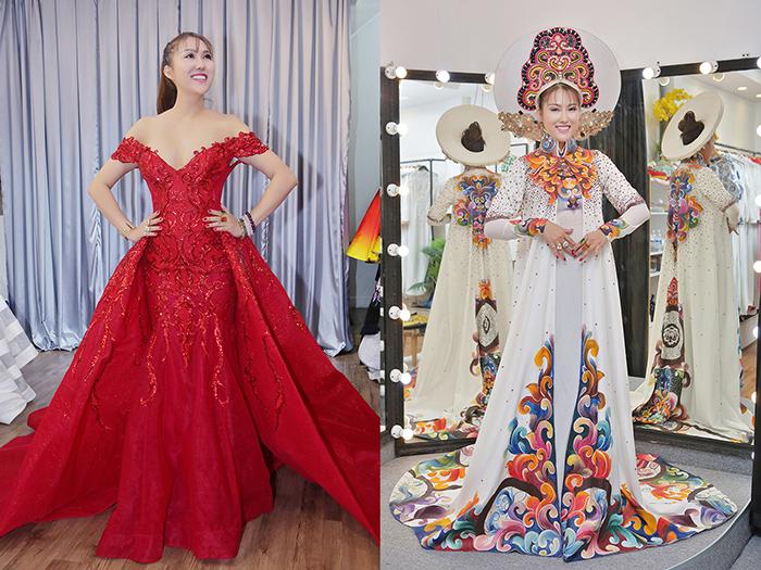 Phi Thanh Vân đặt trang phục cho cuộc thi Hoa hậu tại Mỹ trước hai tháng