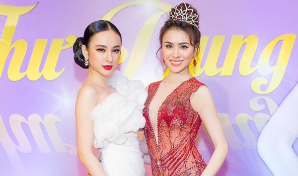 Hoa Hậu Thư Dung sexy đọ vẻ quyến rũ với Angela Phương Trinh