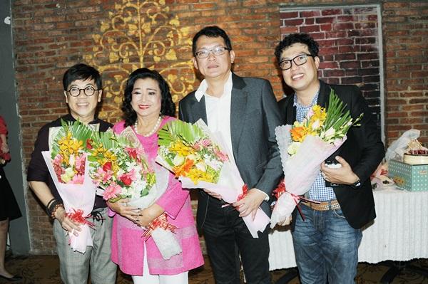 Hữu Châu, Thành Lộc sát cánh cùng NSND Kim Cương trong hoạt động từ thiện
