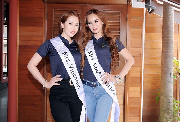MC, diễn viên Hoàng Ny phấn khích cho phần thi bán kết Mrs International Global 2018