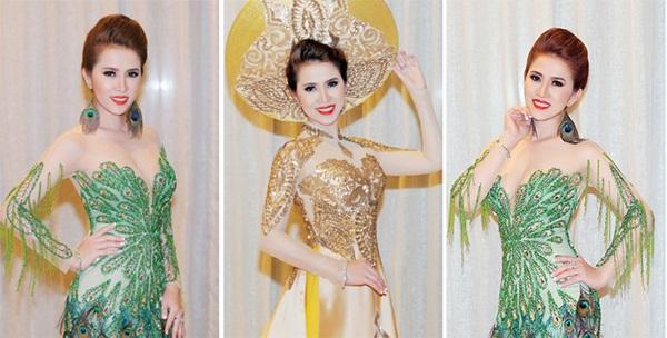 Diễn viên – MC Hoàng Ny tung trang phục dự thi Hoa hậu đầy mê hoặc