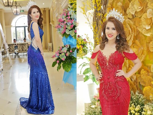 Hoàng Ny tưng bừng mở tiệc đăng quang Hoa hậu cùng dàn sao Việt