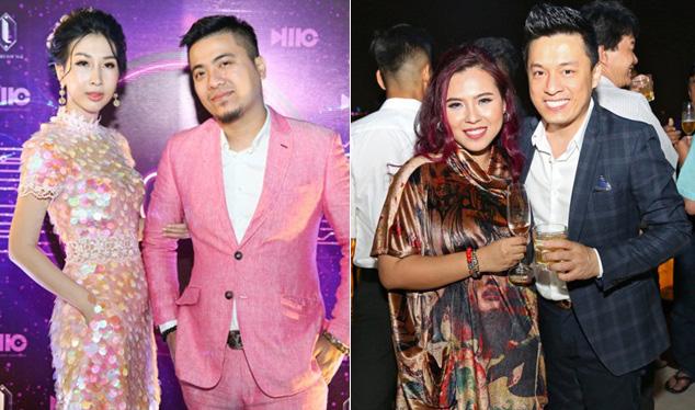 """DJ Wang Trần mặc đồ đôi với Hoa hậu Điện ảnh """"bỏ mặc"""" bà xã Thanh Nhân sánh đôi Lam Trường"""