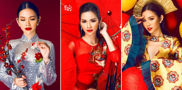 Á Hậu các quốc gia 2017 Thanh Trang quyến rũ với sắc đỏ đầu năm mới