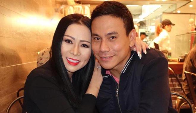 Cặp đôi Kristine Thảo Lâm và tài tử điện ảnh Trí Quang thắm thiết bên nhau