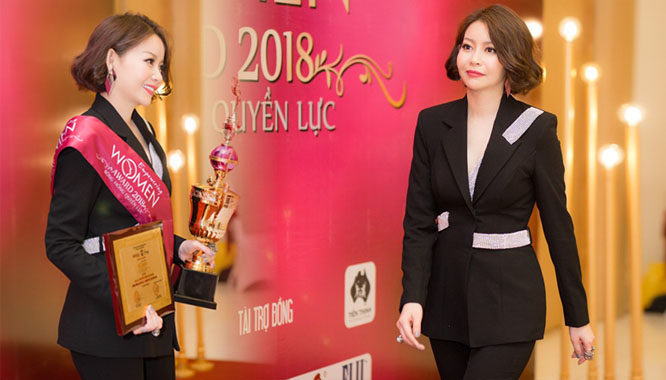 """Hoa hậu Hải Dương rạng rỡ nhận giải """"Nhân vật của năm"""""""