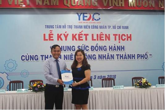 Công ty MGK kí kết hợp tác với Trung tâm Hỗ trợ thanh niên công nhân Thành phố