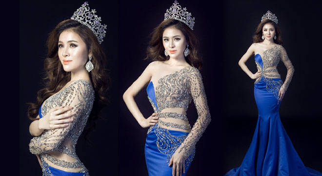 Lộ diện trang phục dạ hội của Thư Dung tại Miss Eco International 2018