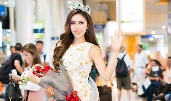 Thư Dung rạng rỡ về nước sau khi ghi dấu ấn mạnh mẽ tại Miss Eco International 2018