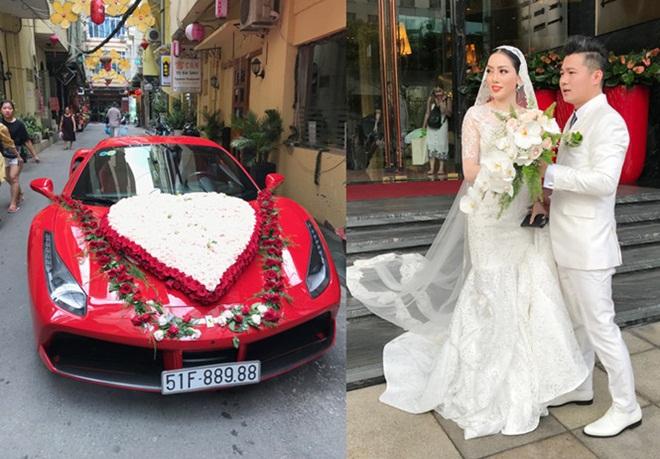 Lâm Vũ rước dâu bằng siêu xe Ferrari 15 tỷ đồng