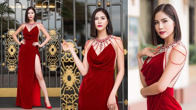 Hoàng Hạnh diện váy đỏ quyền lực, đẹp quên lối về trong lần tái xuất