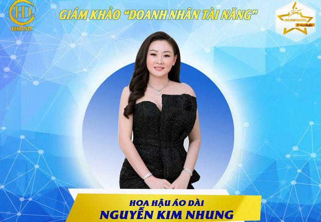 """Hoa hậu Áo dài Kim Nhung ngồi """"ghế nóng"""" làm cầu nối cho các """"Doanh nhân tài năng 2018"""""""