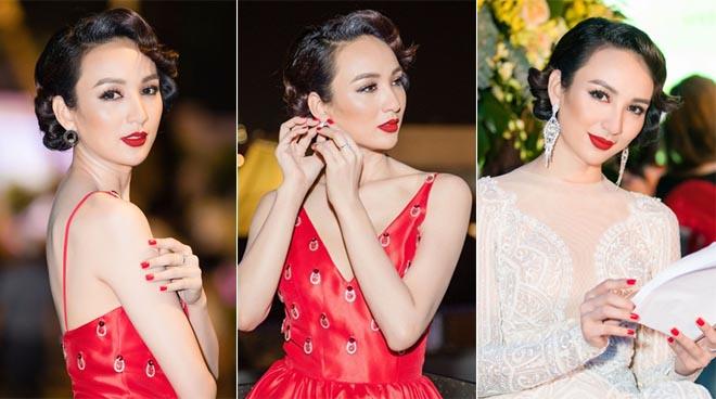 Ngọc Diễm thay hai váy dạ hội sang trọng trong cùng sự kiện