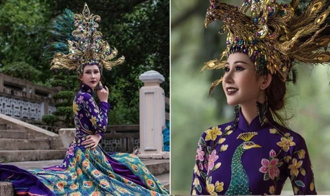 Chi Nguyễn mặc Quốc phục 20 kg tranh tài tại Miss Asia World 2018