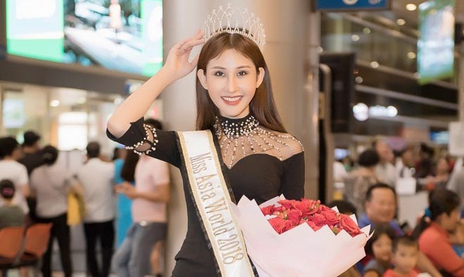Hoa hậu Châu Á Thế giới 2018 Chi Nguyễn rạng ngời ngày về nước