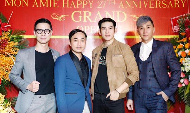 Siêu mẫu Nam Phong, Minh Trung lịch lãm dự khai trương thương hiệu Veston Mon Amie 4