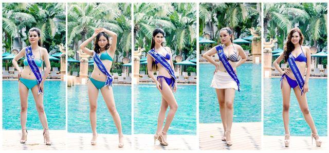 Thí sinh Hoa hậu Đại sứ Hoàn vũ người Việt 2018 nóng bỏng với bikini