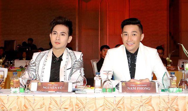 Nguyên Vũ cùng siêu mẫu Nam Phong làm giám khảo một cuộc thi nhan sắc